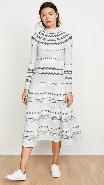 Adam Lippes 费尔岛风格印花针织中长半身裙