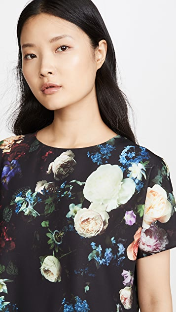 Adam Lippes Tops Dolman Top in Printed Crepe