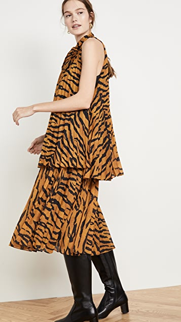 Adam Lippes Printed Voile Top