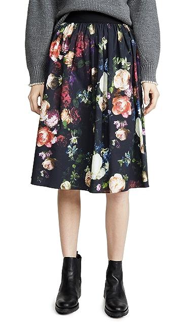 Adam Lippes 旭日形裥褶中长半身裙