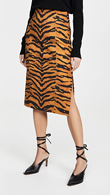 Adam Lippes Pencil Skirt In Printed Stretch Viscose