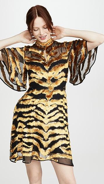 Adam Lippes Mini Dress In Burnout Velvet