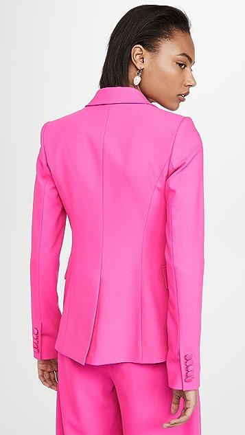 Adam Lippes 热带羊毛单排扣西装外套