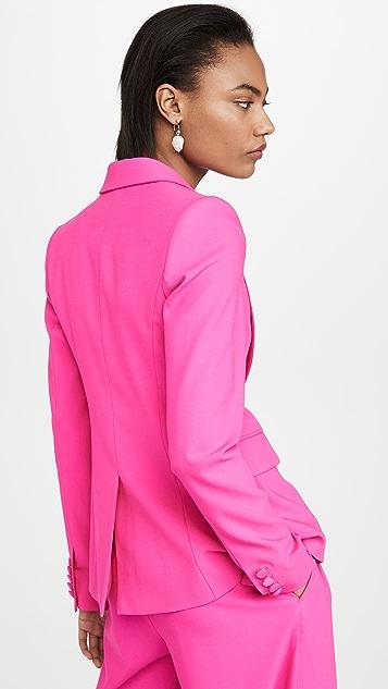 Adam Lippes Single Breasted Blazer In Tropical Wool