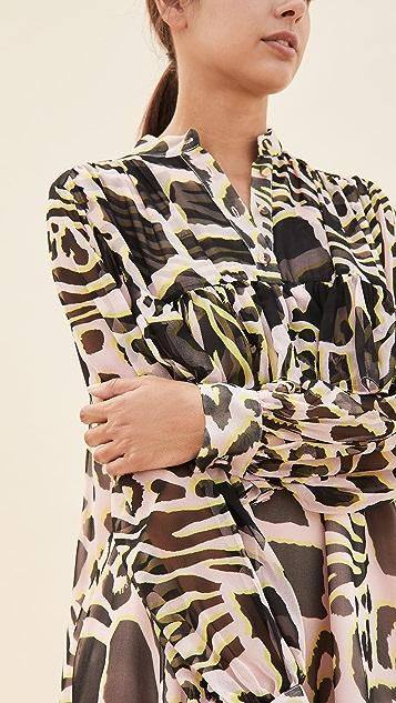 Adam Lippes Tiered Ruffle Dress