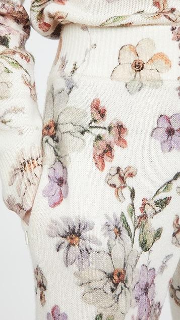 Adam Lippes Sweatpants in Printed Cashmere