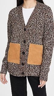 Adam Lippes 夹花开司米羊绒系扣衫
