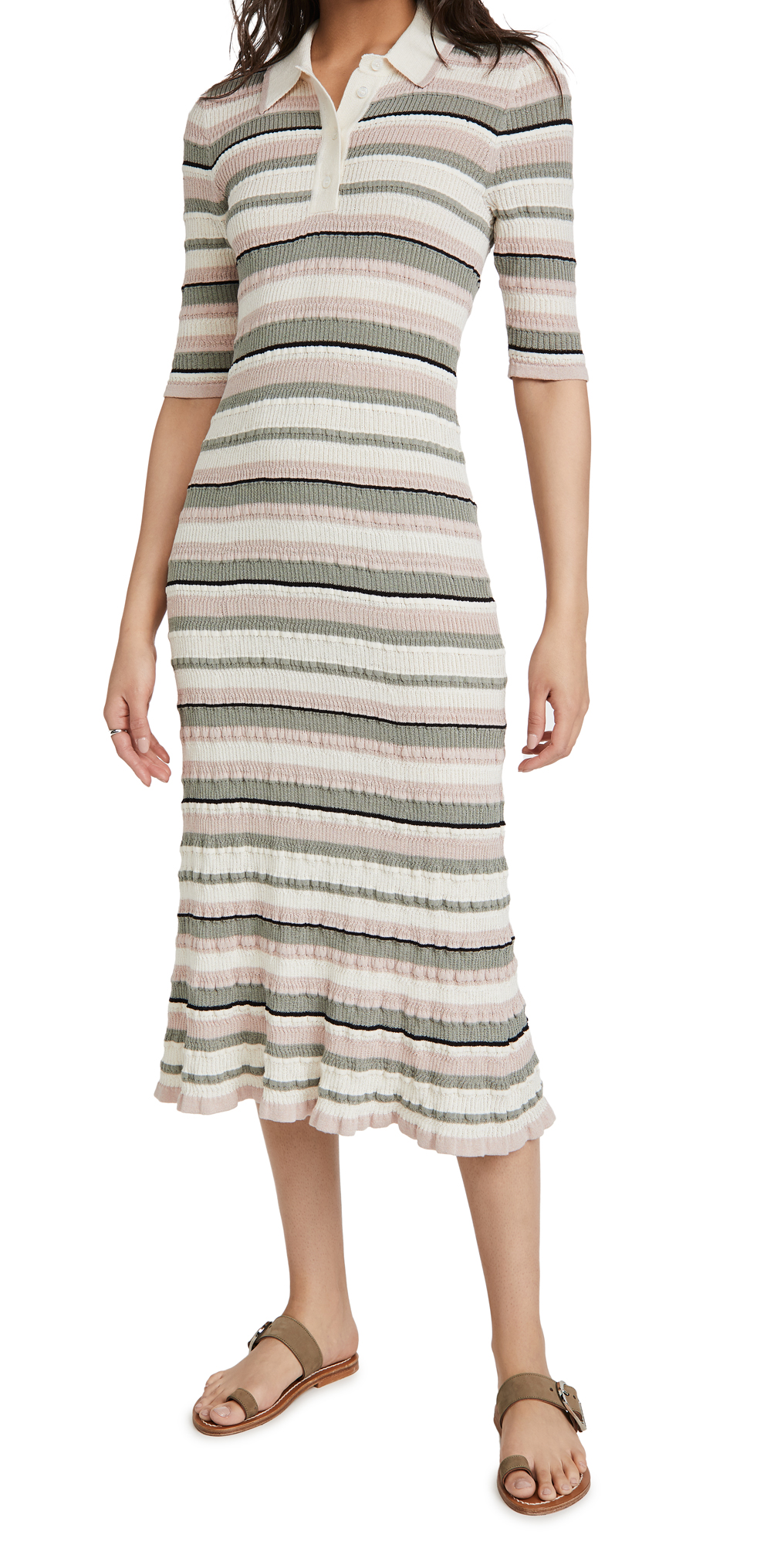 Adam Lippes Polo Dress In Cotton Crepe Yarn