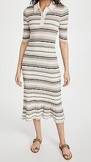 Adam Lippes Polo Dress In Cotton Crepe Yarn