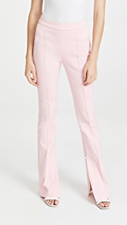 Adam Lippes Flare Jeans with Slit Cuffs