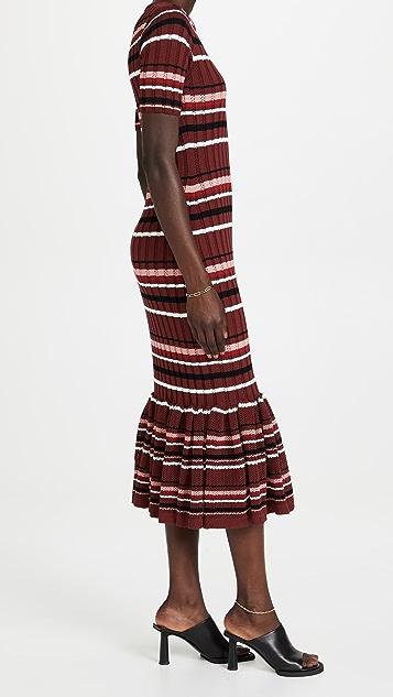 Adam Lippes Mermaid Dress In Cotton Crepe Yarn