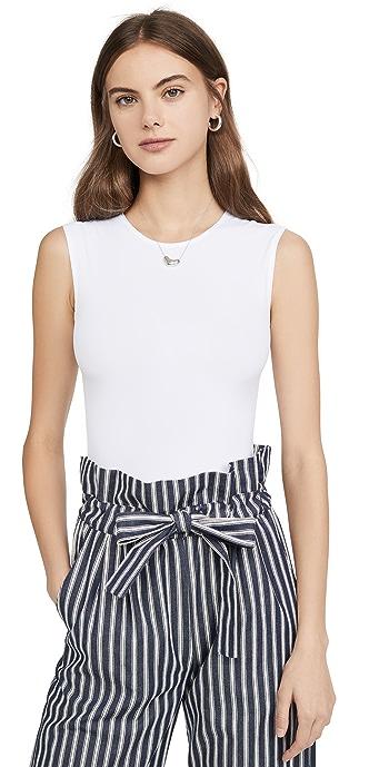 Alix Lenox Skin Thong Bodysuit - White