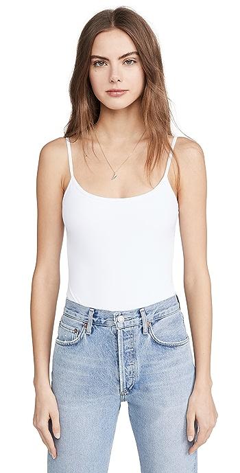 Alix Elizabeth Thong Bodysuit - White