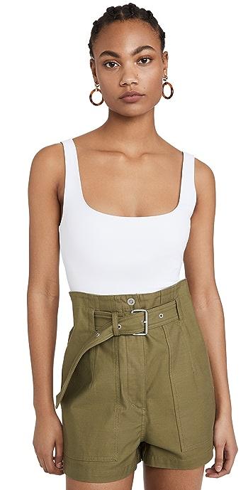 Alix Mott Tank Thong Bodysuit - White