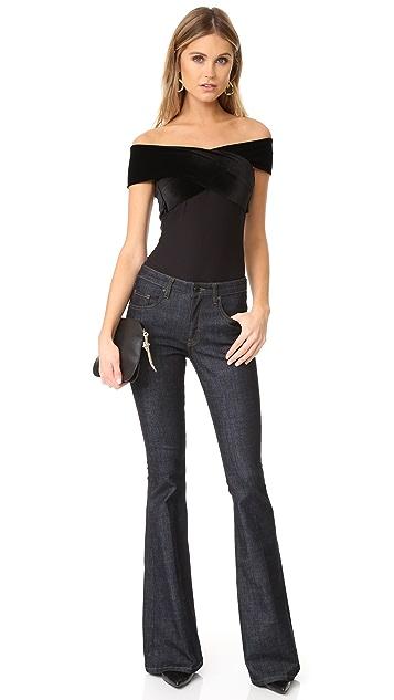 Alix Wooster Velour Bodysuit
