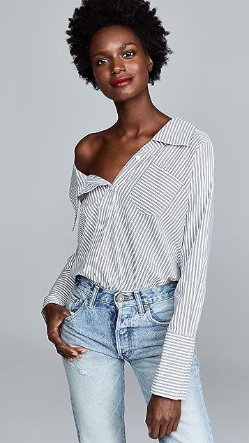 Alix Leonard Stripe Bodysuit