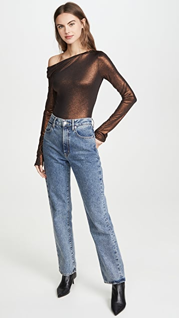 Alix Willett Metallic Thong Bodysuit