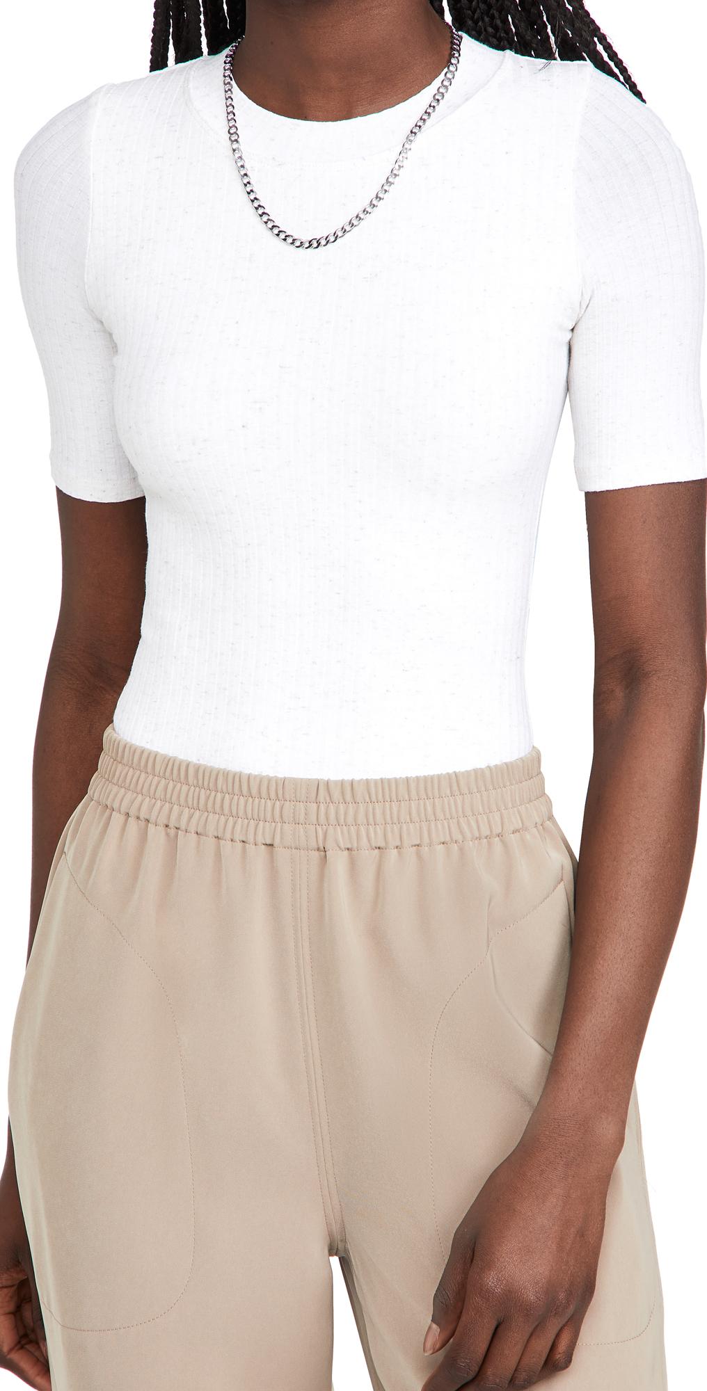 Ridge Novelty Knit Thong Bodysuit