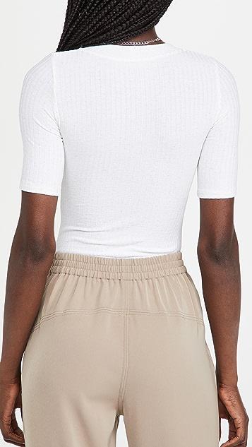 Alix Ridge Novelty Knit Thong Bodysuit