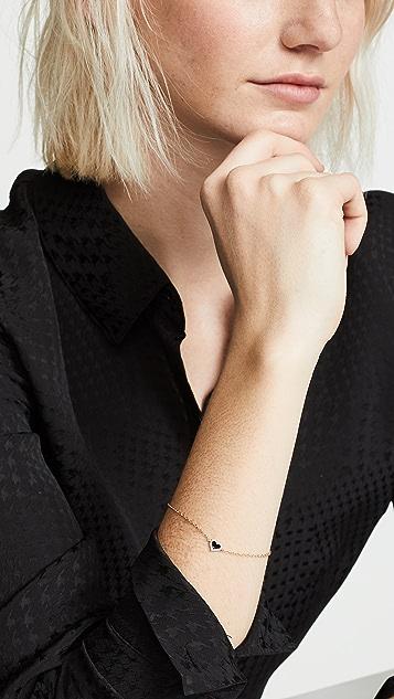 Alison Lou 14K 钻石心形手链