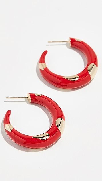 Alison Lou 14k Amour 圈式耳环