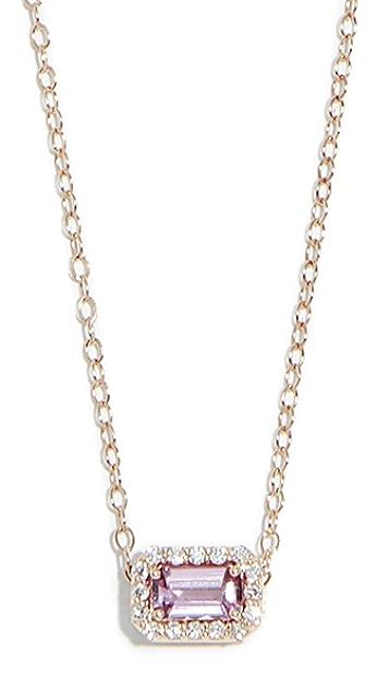 Alison Lou 14k 蓝宝石钻石小号项链