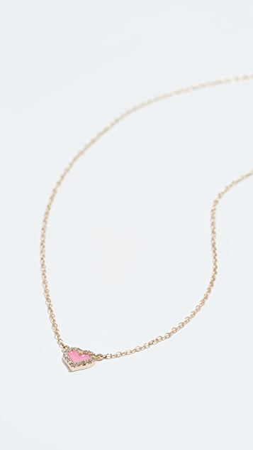 Alison Lou 14k Diamond Heart Necklace