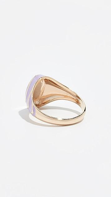 Alison Lou 14k Stripe Signet Ring