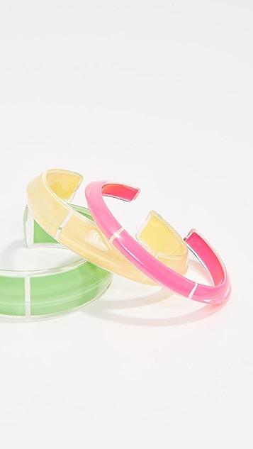 Alison Lou Loucite Cuff Bracelet Set