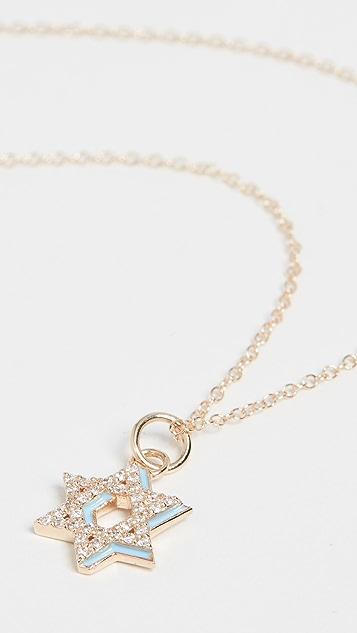 Alison Lou Колье из 14-каратного золота Star of David Shadow с бриллиантами