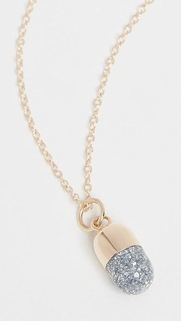 Alison Lou 14k Pill Charm Necklace