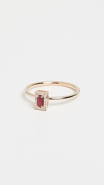 Alison Lou 14k 红宝石钻石叠戒