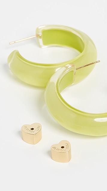 Alison Lou Small Jelly Hoop Earrings