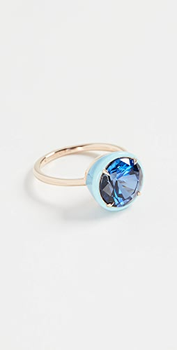 Alison Lou - Round Sapphire Cocktail Ring