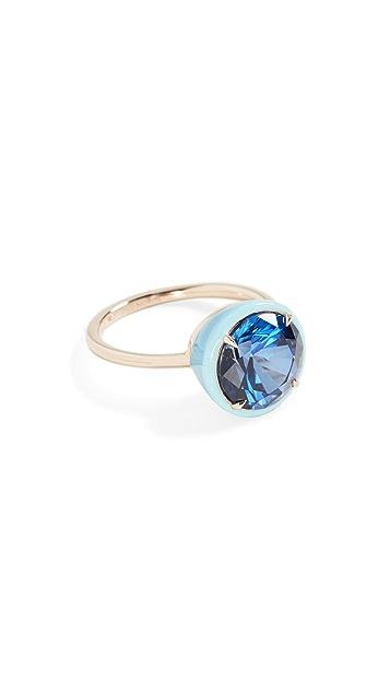 Alison Lou 圆形蓝宝石鸡尾酒戒指