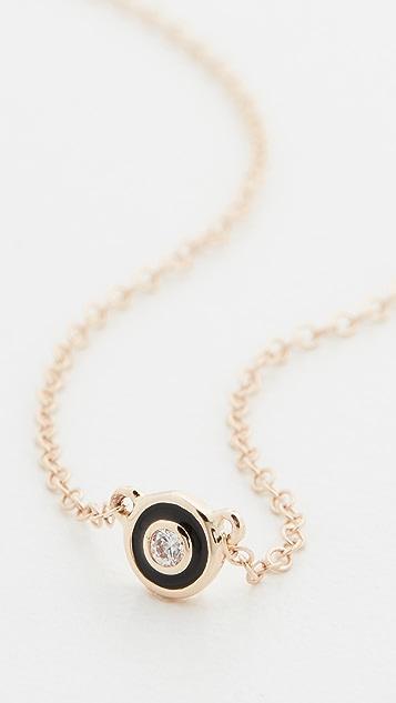 Alison Lou 14k Single Bezel Necklace