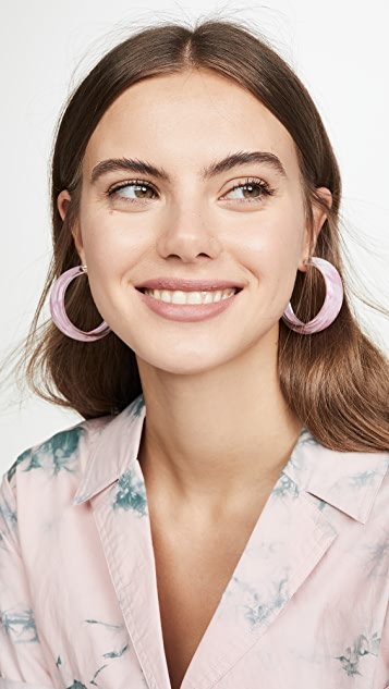 Alison Lou 扎染果冻色圈式耳环
