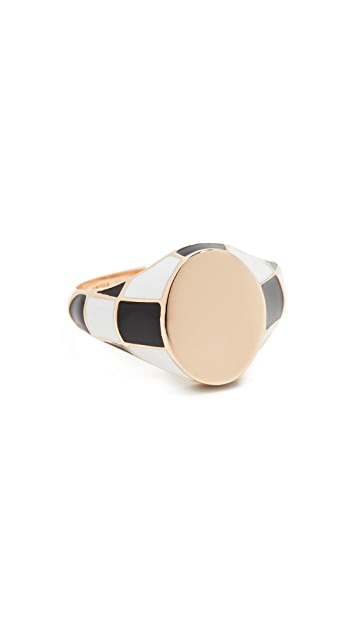 Alison Lou Checker Signet Ring
