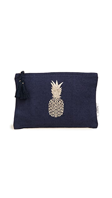 Ashiana London Gold Pineapple Pouch