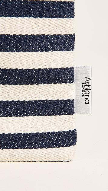 Ashiana London Striped Anchor Clutch