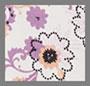 淡紫色饰珠花卉印花