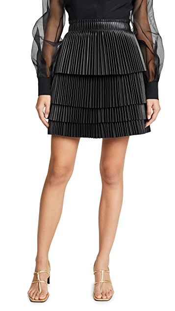 Alexis Briana Vegan Leather Skirt