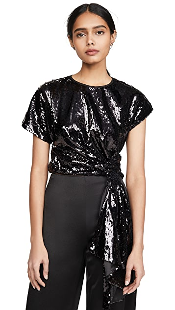 Alice McCall Electric Orchid Sequined Top