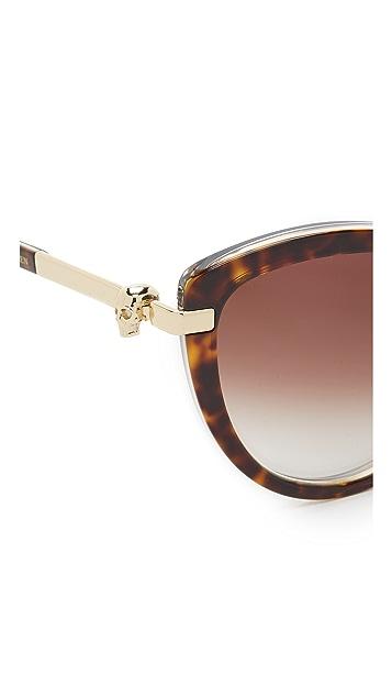 Alexander McQueen Skull Cat Eye Sunglasses
