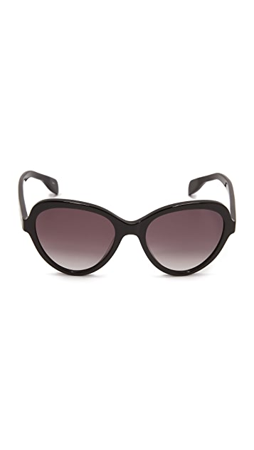 Alexander McQueen Shrunken Cat Eye Sunglasses