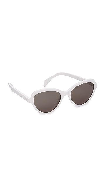 Alexander McQueen Shrunken Cat Eye Sunglasses