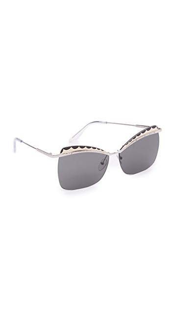 Alexander McQueen Rimless Butterfly Sunglasses