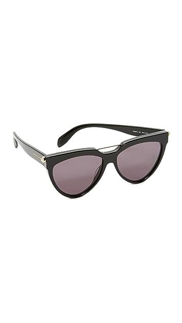 Alexander McQueen Piercing Cat Eye Sunglasses