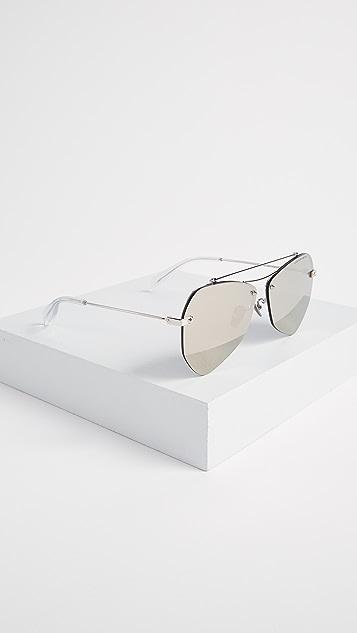 Alexander McQueen Pinched Aviator Sunglasses