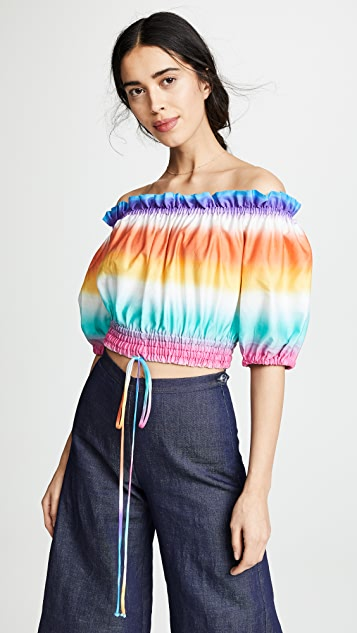 A Mere Co Striped Top